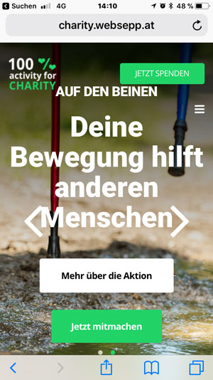 charity projekt referenz homepage